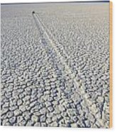 Racetrack Death Valley Trail Of Mystery Wood Print