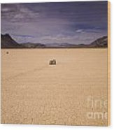 Racetrack Playa Wood Print