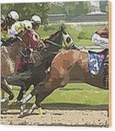 Racetrack Views Wood Print
