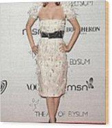 Rachel Bilson Wearing A Chanel Dress Wood Print by Everett