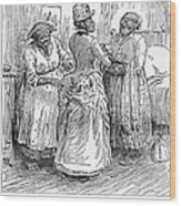 Racial Caricature, 1886 Wood Print