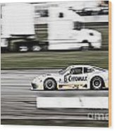 Racing By Wood Print by Darcy Michaelchuk