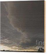 Racing The Storm Wood Print