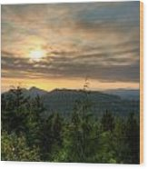 Radar Hill Sunset - Tofino Bc Canada Wood Print