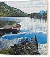 Radiant Blue Wood Print