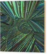 Radiant Digital Floral Fx  Wood Print
