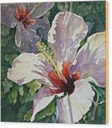 Radiant Light - Hibiscus Wood Print
