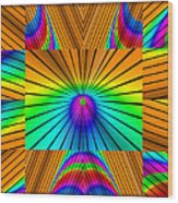 Radiant Rainbow Wood Print