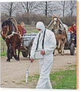 Radiation Monitoring Near Chernobyl Wood Print by Ria Novosti