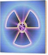 Radiation Warning Sign Wood Print