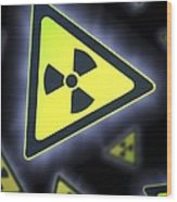 Radiation Warning Signs, Artwork Wood Print