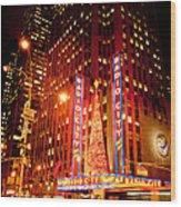 Radio City At Christmas Wood Print