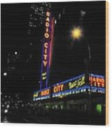 Radio City Music Hall - Greeting Card Wood Print