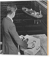 Radio-controlled Model Tug, 1955 Wood Print