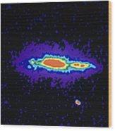 Radio Image Of Spiral Galaxy Ngc 4631 Wood Print