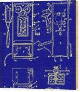Radio Phone Patent Wood Print
