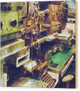 Radio Room Wood Print