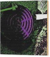 Radioactive Drain Wood Print