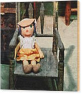 Rag Doll In Chair Wood Print