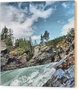 Raging River Wood Print