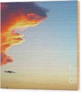 Raging Sky Wood Print