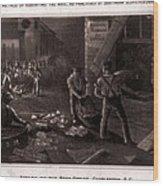 Raid On The Charleston Post Office Wood Print by Everett