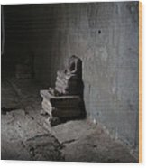 Raided Buddha At Angkor Wat Wood Print