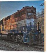 Rail America's 3869 Wood Print