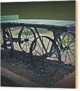 Rail Road Wagon Wood Print