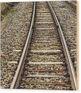 Rail Way Wood Print