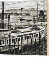Rail Yard Blues Wood Print