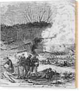 Railroad Accident, 1853 Wood Print