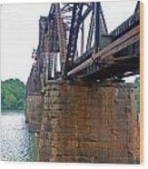Railroad Bridge 2 Wood Print