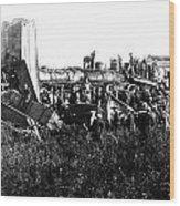 Railroad Collision Wood Print