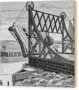 Railroad Drawbridge, 19th Century Wood Print