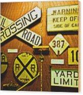 Railroad Talk Wood Print