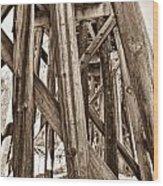 Railroad Trussel Wood Print