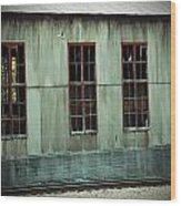 Railroad Woodshed Wood Print