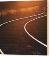 Railroads Wood Print