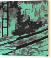 Railway - Schattenbild Siebdrucktechnik Wood Print