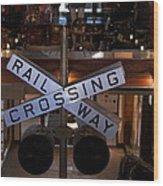 Railway Crossing Wood Print