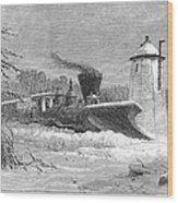 Railway Snow Plough, 1862 Wood Print