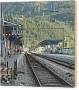 Railway Station West Interlaken Switzerland Wood Print