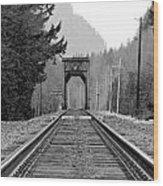 Railway Track Wood Print