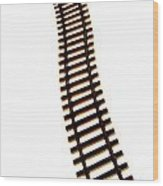 Railway Tracks Wood Print by Bernard Jaubert