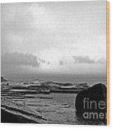 Rain And Storm Wood Print