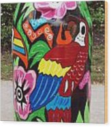 Rain Barrel 2 Wood Print