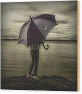 Rain Day 2 Wood Print by Heather  Rivet