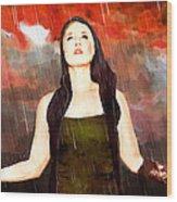 Rain Drain Wood Print