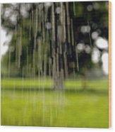 Rain Falling Wood Print